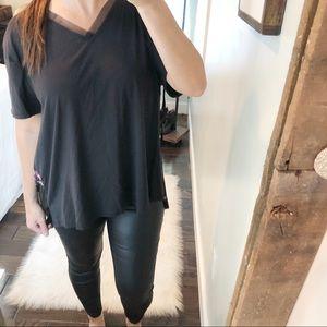 Ava & Viv plus size 1X, 2X black floral blouse